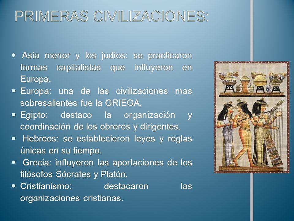 PRIMERAS CIVILIZACIONES: