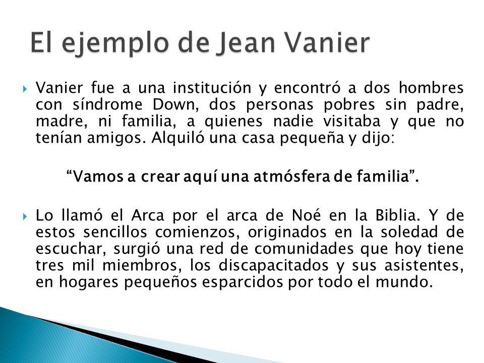 El ejemplo de Jean Vanier
