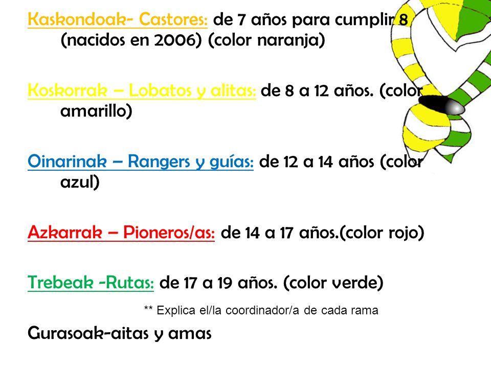 Koskorrak – Lobatos y alitas: de 8 a 12 años. (color amarillo)