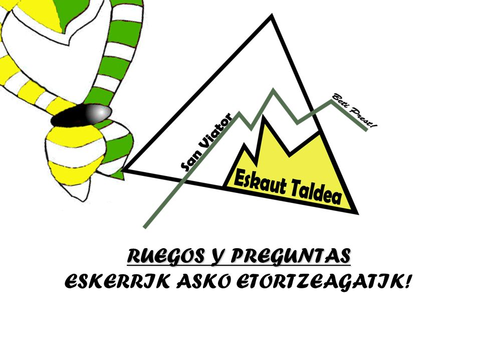 ESKERRIK ASKO ETORTZEAGATIK!