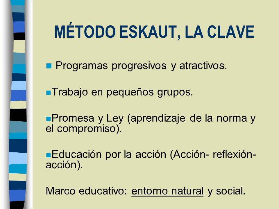 MÉTODO ESKAUT, LA CLAVE Programas progresivos y atractivos.