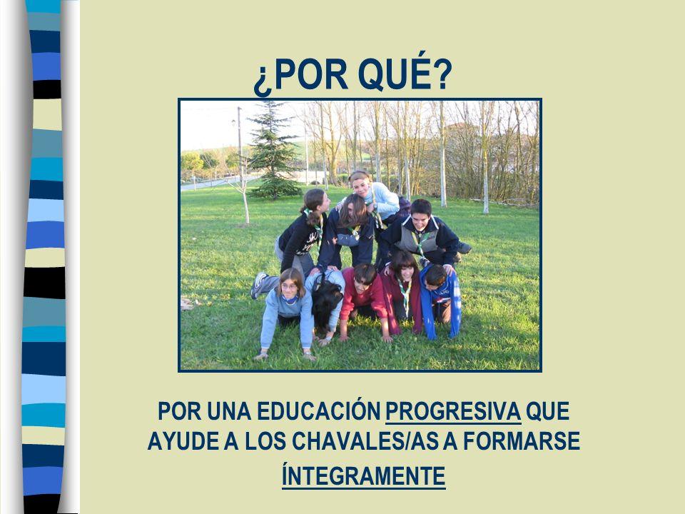 ¿POR QUÉ POR UNA EDUCACIÓN PROGRESIVA QUE AYUDE A LOS CHAVALES/AS A FORMARSE ÍNTEGRAMENTE