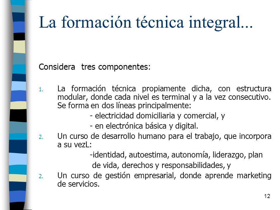 La formación técnica integral...