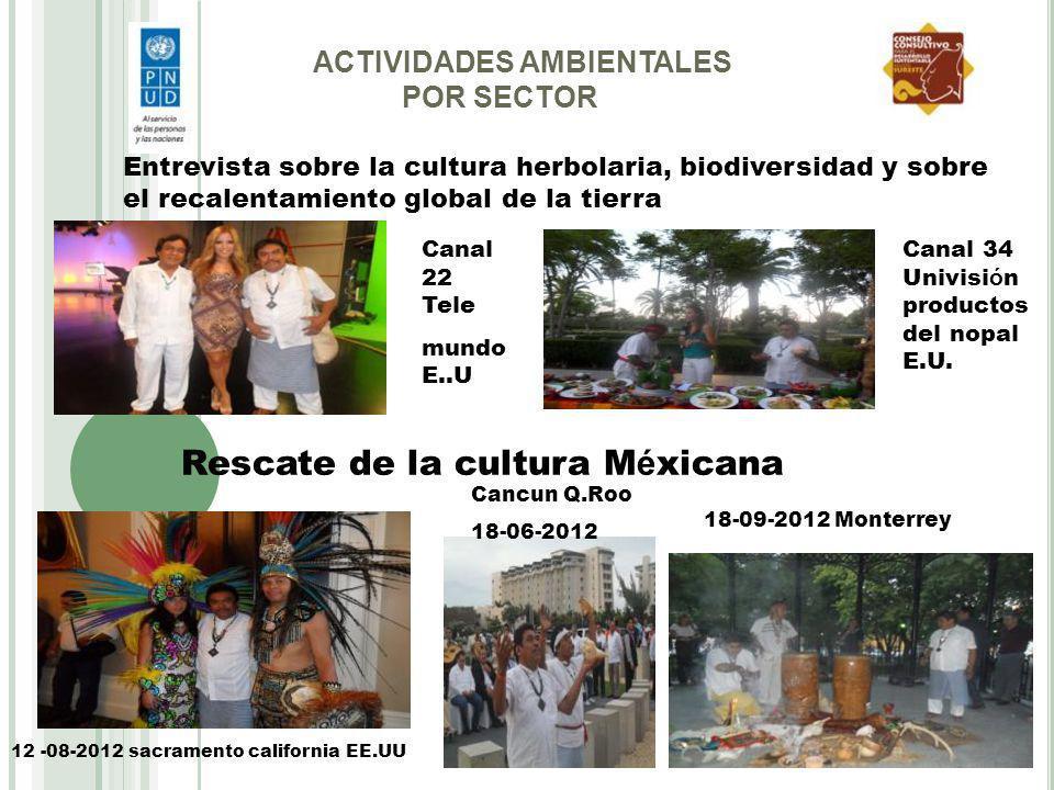 Rescate de la cultura Méxicana