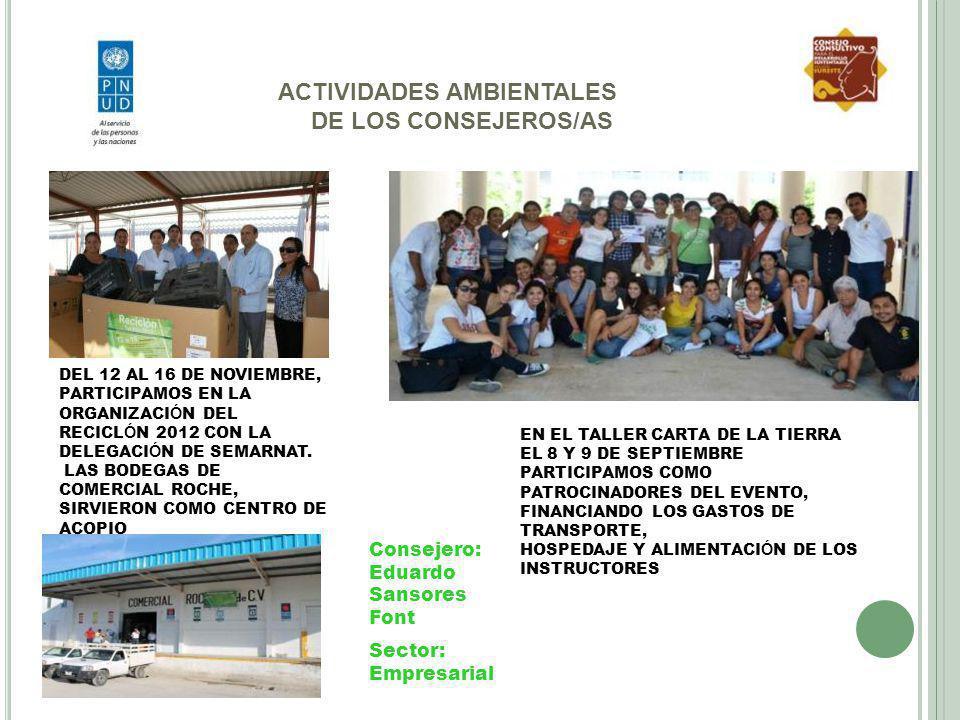 ACTIVIDADES AMBIENTALES DE LOS CONSEJEROS/AS