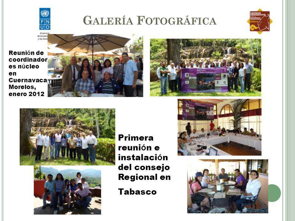 Galería Fotográfica Reunión de coordinadores núcleo en Cuernavaca Morelos, enero 2012. Primera reunión e instalación del consejo Regional en.