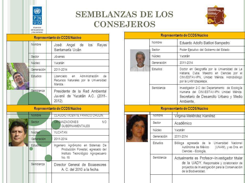 SEMBLANZAS DE LOS CONSEJEROS