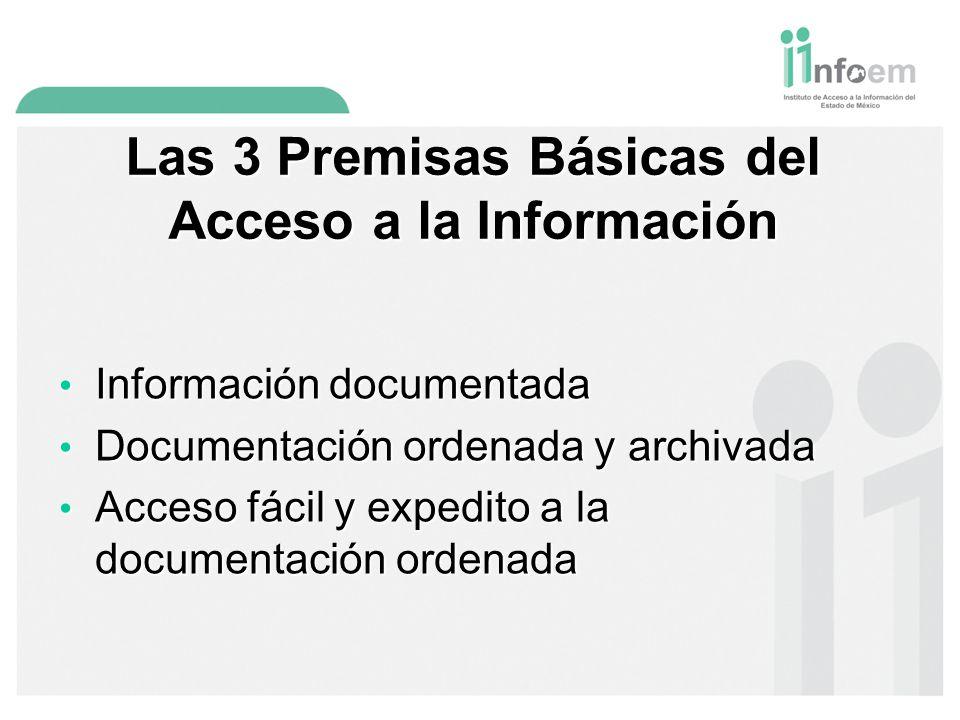 Las 3 Premisas Básicas del Acceso a la Información