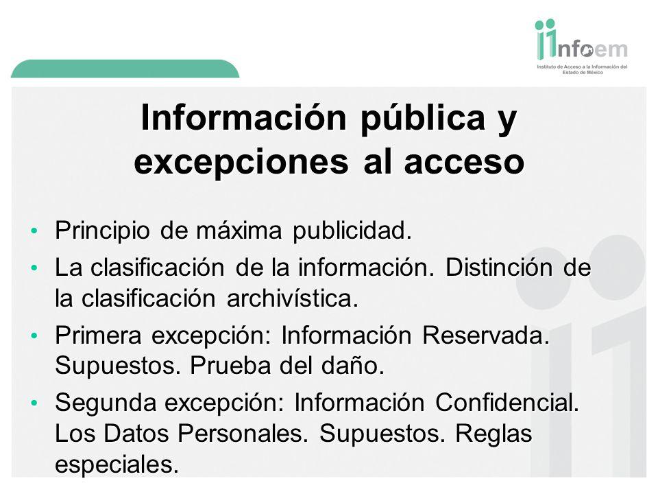 Información pública y excepciones al acceso