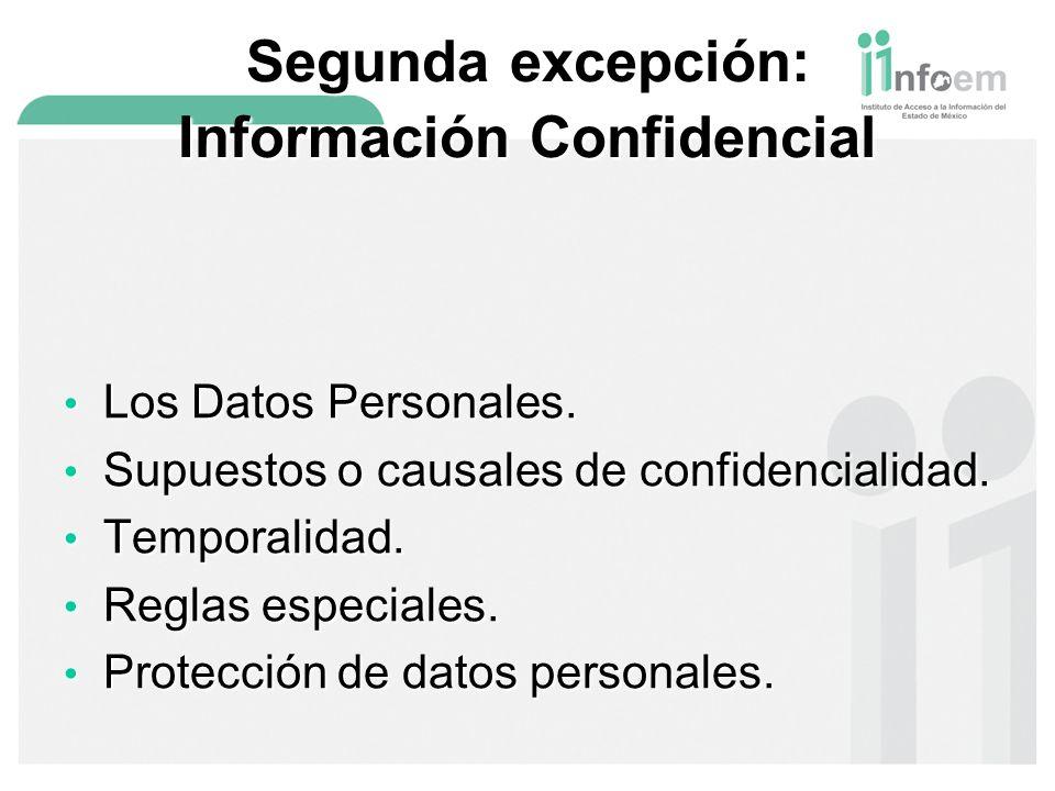 Segunda excepción: Información Confidencial
