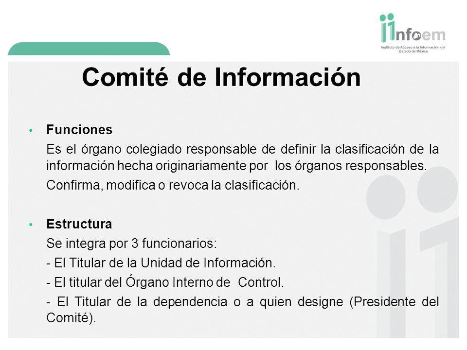 Comité de Información Funciones