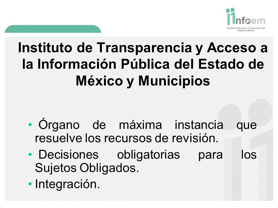 Instituto de Transparencia y Acceso a la Información Pública del Estado de México y Municipios