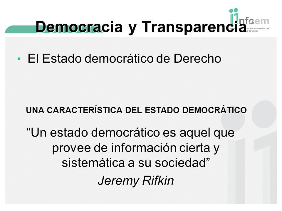 Democracia y Transparencia