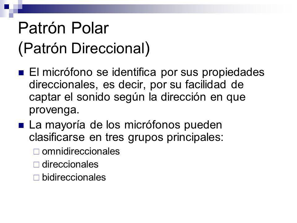 Patrón Polar (Patrón Direccional)