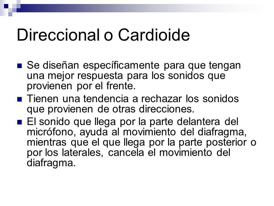 Direccional o Cardioide