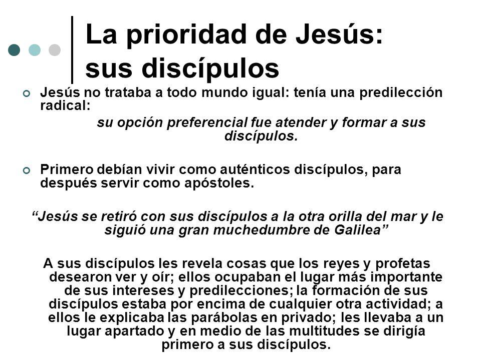 La prioridad de Jesús: sus discípulos