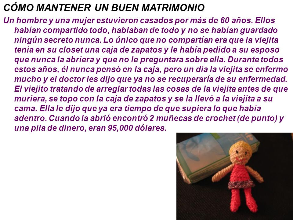 CÓMO MANTENER UN BUEN MATRIMONIO