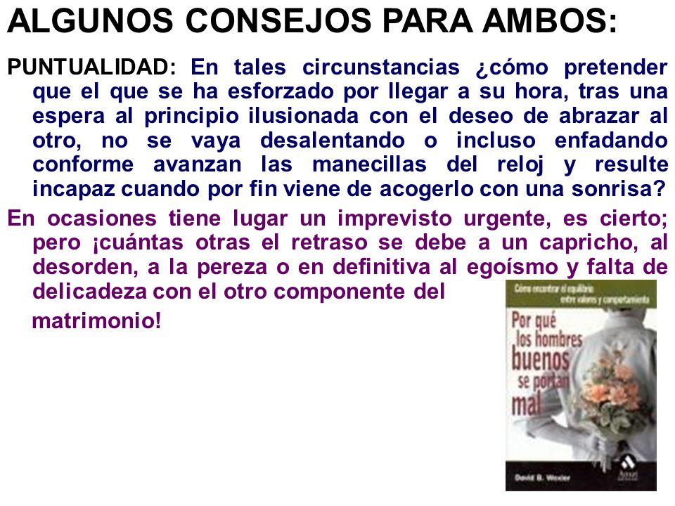 ALGUNOS CONSEJOS PARA AMBOS: