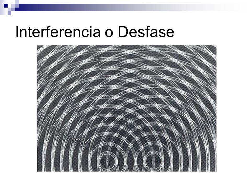 Interferencia o Desfase