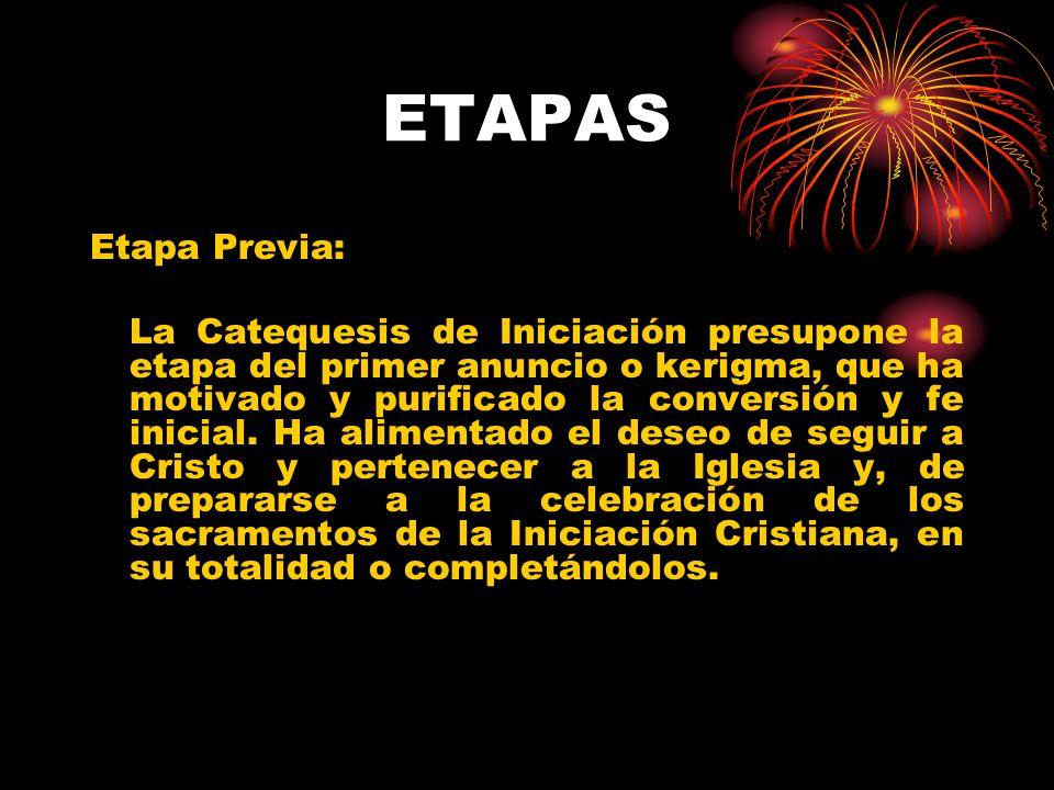 ETAPAS Etapa Previa: