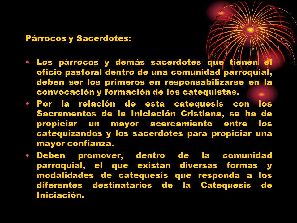Párrocos y Sacerdotes: