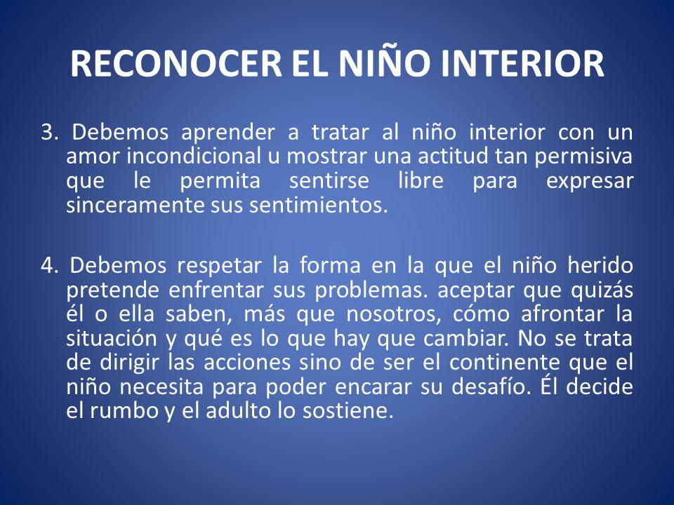 RECONOCER EL NIÑO INTERIOR
