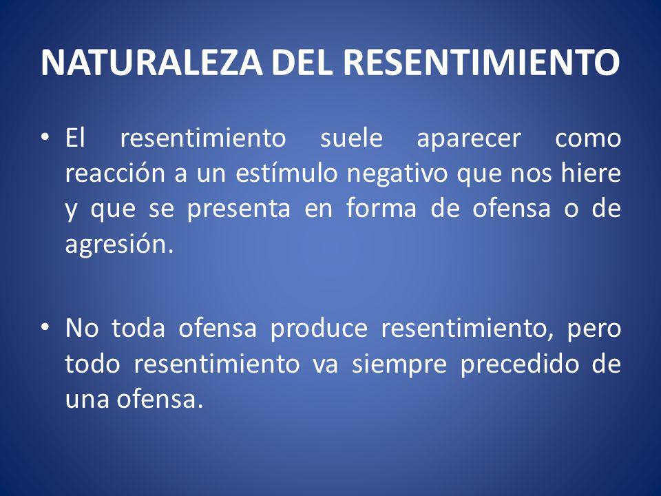 NATURALEZA DEL RESENTIMIENTO