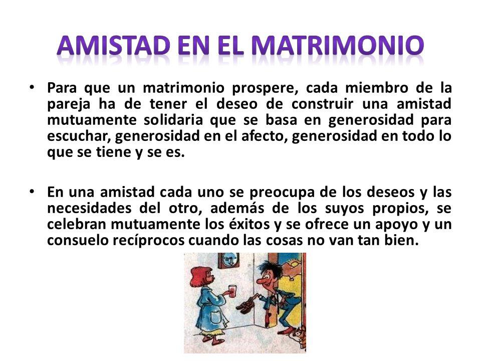 AMISTAD EN EL MATRIMONIO