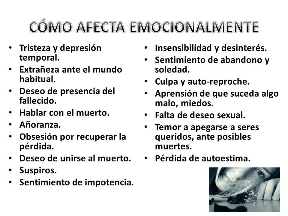 CÓMO AFECTA EMOCIONALMENTE