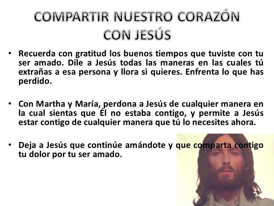 COMPARTIR NUESTRO CORAZÓN CON JESÚS