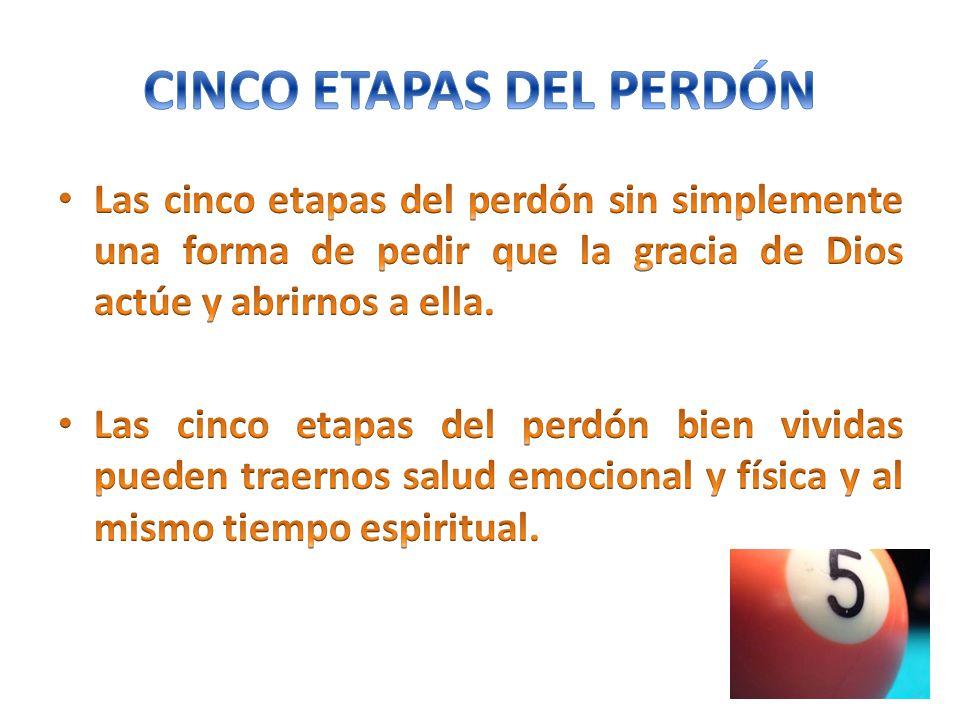 CINCO ETAPAS DEL PERDÓN