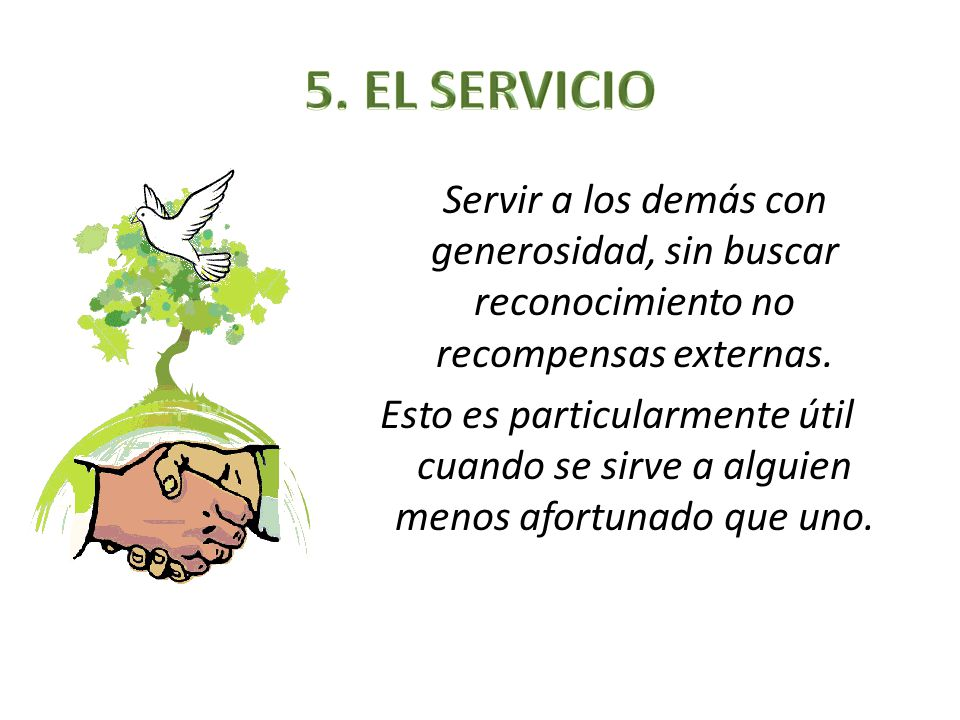 5. EL SERVICIO