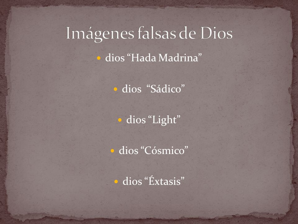 Imágenes falsas de Dios