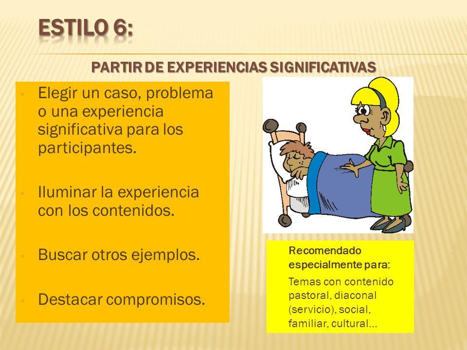 PARTIR DE EXPERIENCIAS SIGNIFICATIVAS