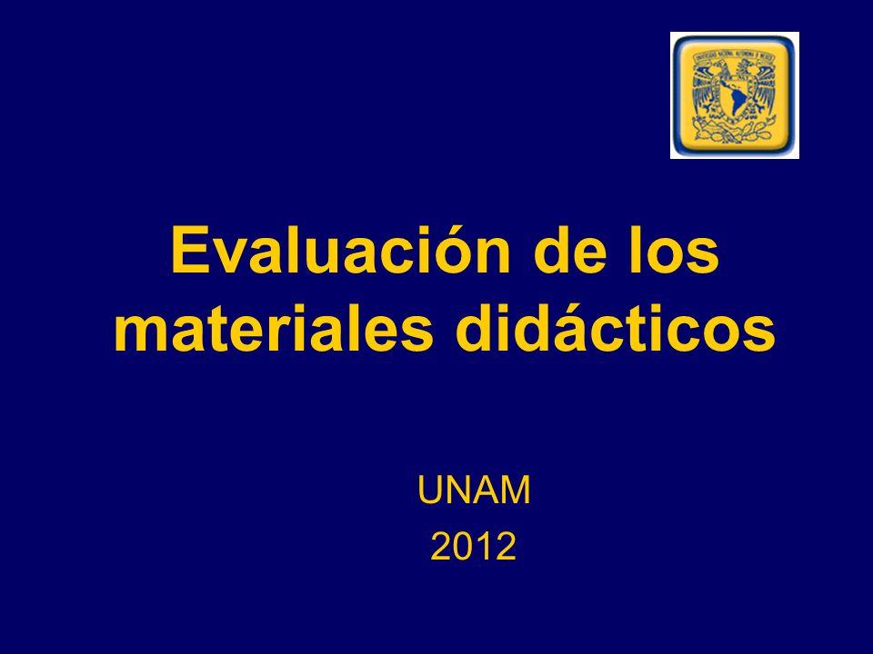 Evaluación de los materiales didácticos