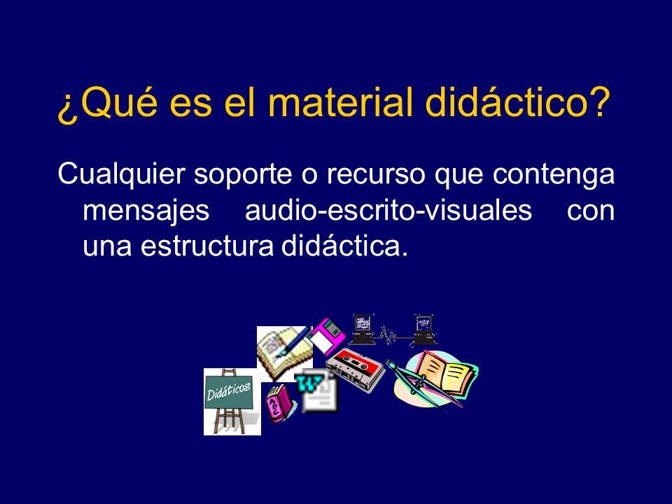 ¿Qué es el material didáctico