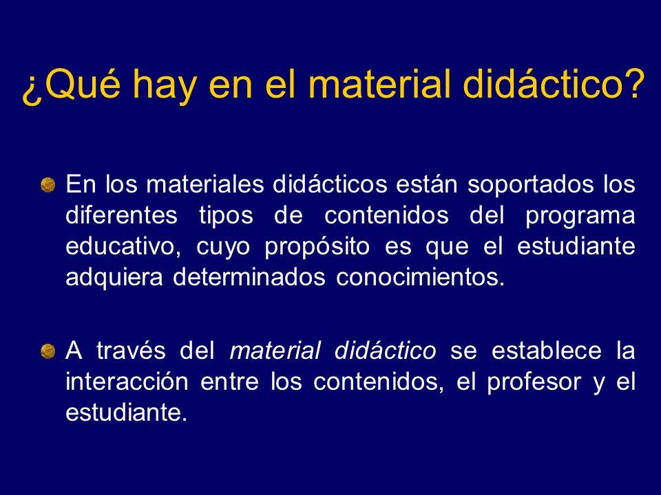 ¿Qué hay en el material didáctico