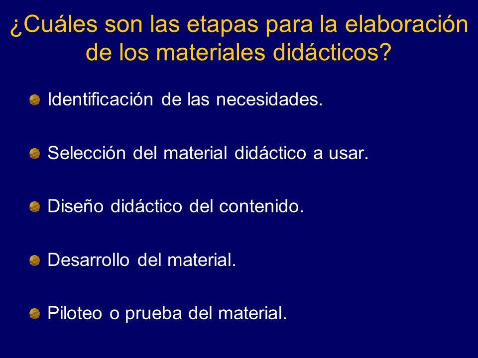 ¿Cuáles son las etapas para la elaboración de los materiales didácticos