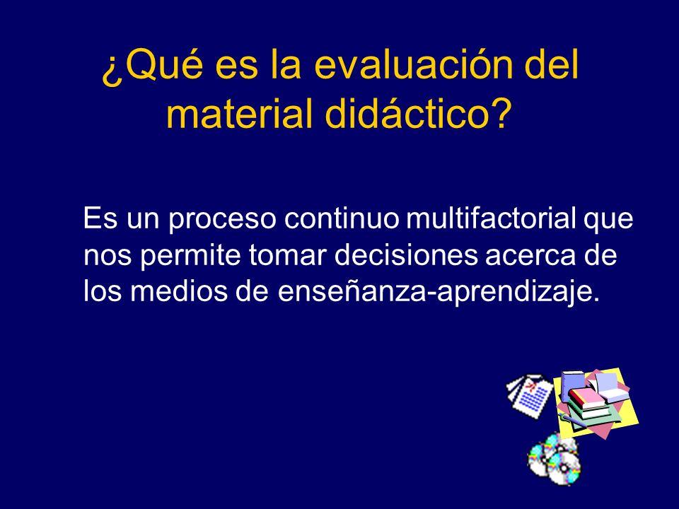 ¿Qué es la evaluación del material didáctico