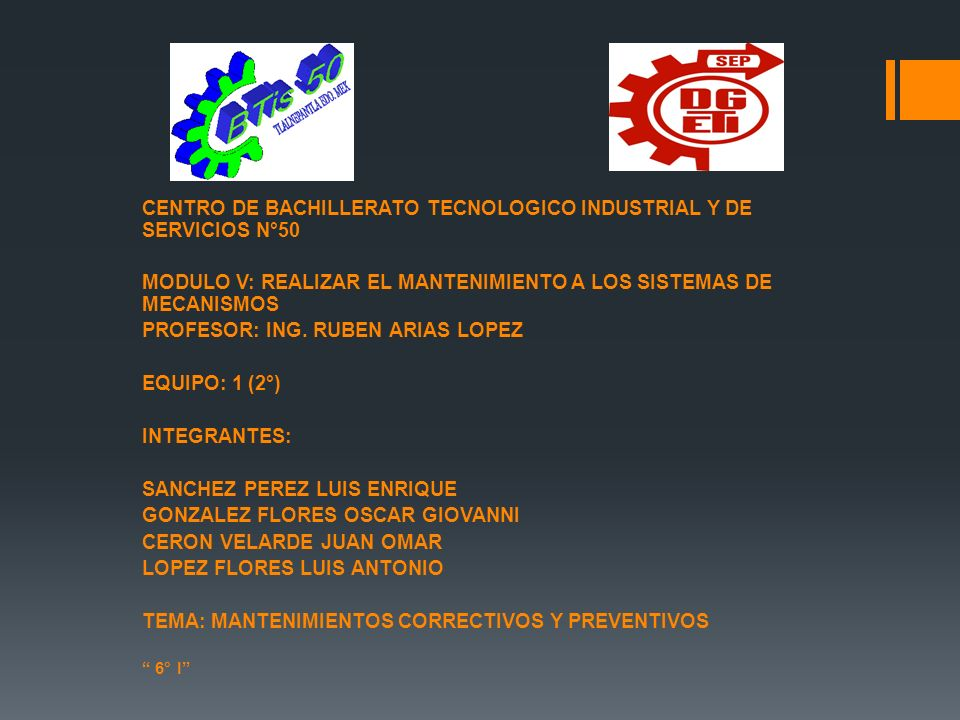 CENTRO DE BACHILLERATO TECNOLOGICO INDUSTRIAL Y DE SERVICIOS N°50