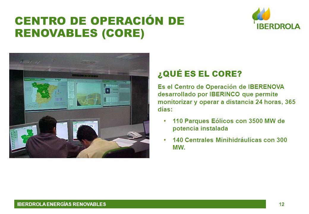 CENTRO DE OPERACIÓN DE RENOVABLES (CORE)