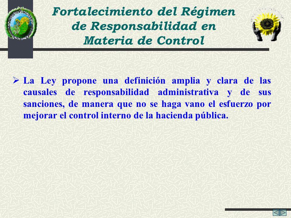 Fortalecimiento del Régimen de Responsabilidad en Materia de Control