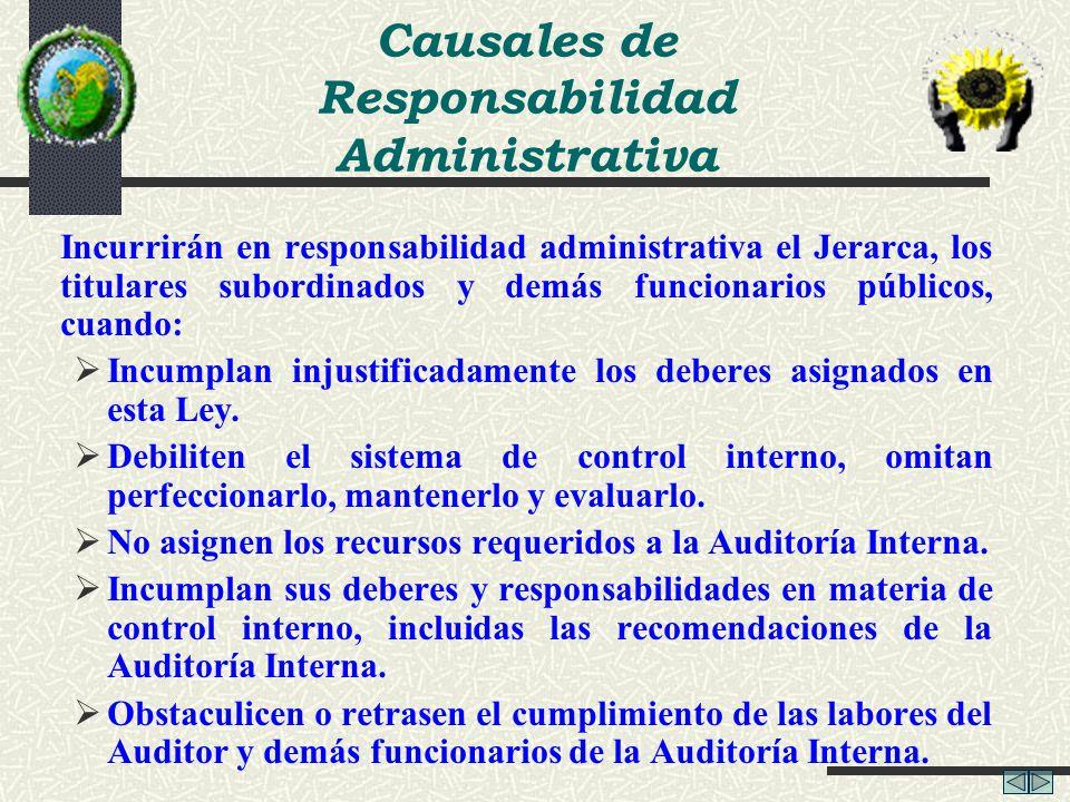 Causales de Responsabilidad Administrativa