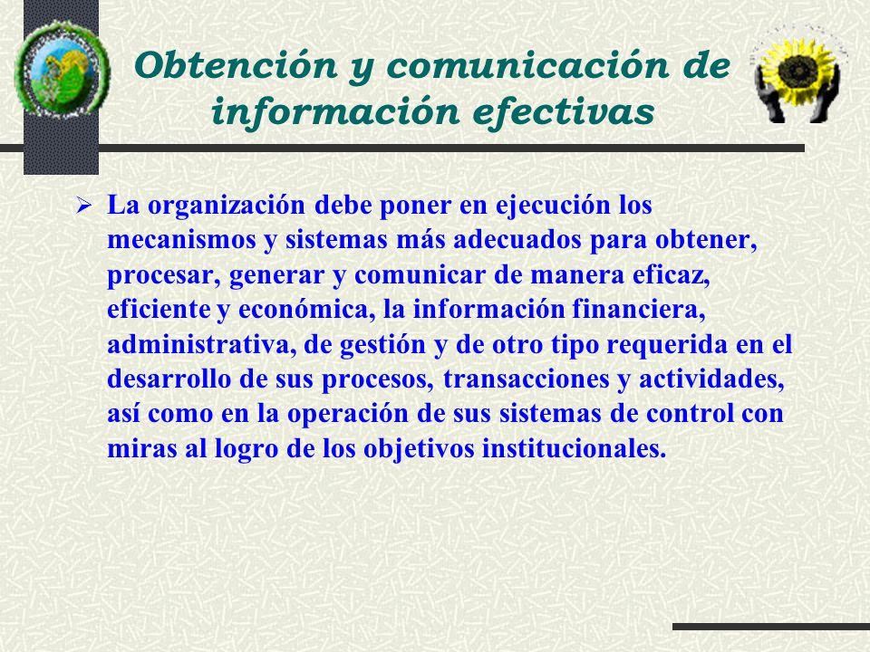 Obtención y comunicación de información efectivas