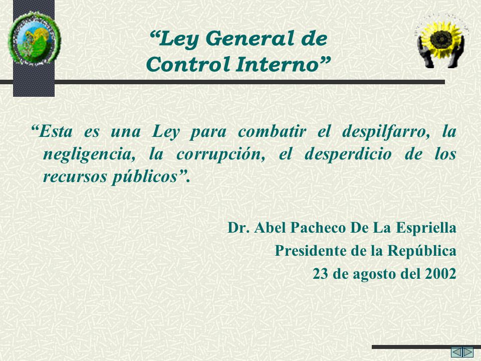 Ley General de Control Interno