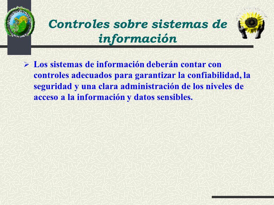 Controles sobre sistemas de información