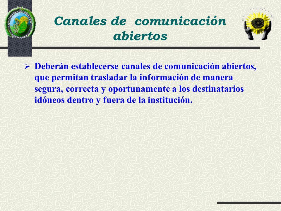 Canales de comunicación abiertos