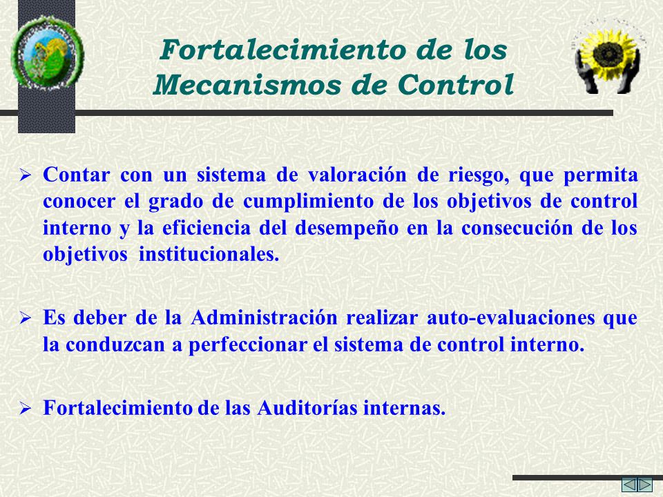 Fortalecimiento de los Mecanismos de Control