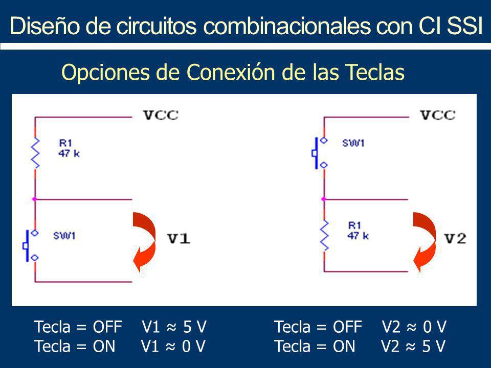 Diseño de circuitos combinacionales con CI SSI