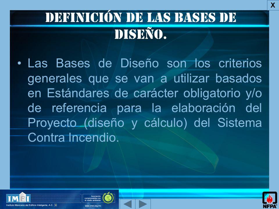 Definición de las bases de diseño.